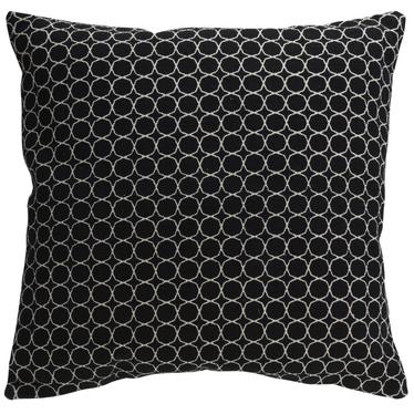 Poduszka z poszewką Mone czarna 60x60 cm