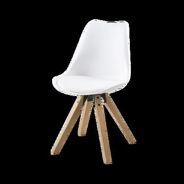 Krzesło Djum biało - dębowe