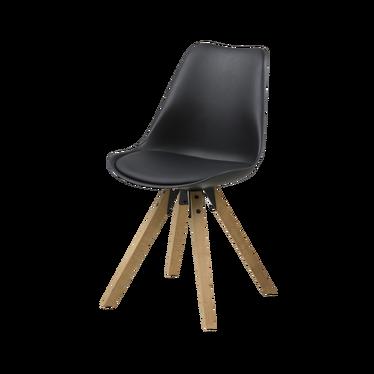 Krzesło Djum czarno - dębowe