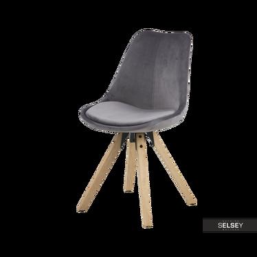 Krzesło Djum szaro - dębowe