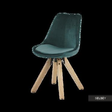 Krzesło Djum butelkowo - dębowe