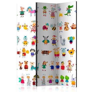 Parawan 3-częściowy - Zwierzątka z kreskówek