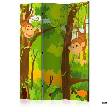Parawan 3-częściowy - Dżungla - małpy