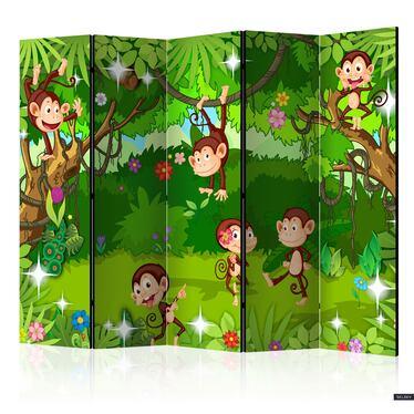 Parawan 5-częściowy - Małpie sztuczki