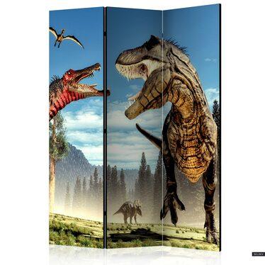 Parawan 3-częściowy - Walka dinozaurów