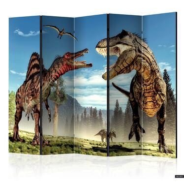 Parawan 5-częściowy - Walka dinozaurów