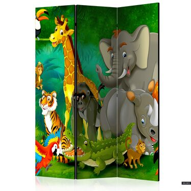 Parawan 3-częściowy - Kolorowe safari
