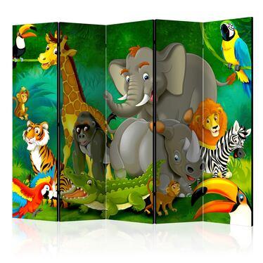 Parawan 5-częściowy - Kolorowe safari