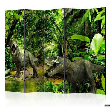 Parawan 5-częściowy - Dinozaury w dżungli