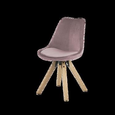 Krzesło Djum różowo - dębowe