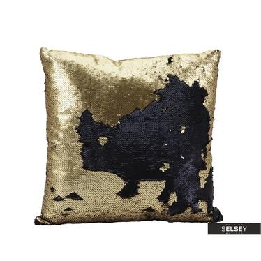 Poduszka z poszewką Sparkle złota 45x45 cm