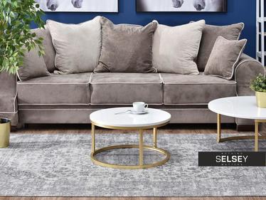 Stolik kawowy Kodia średnica 60 cm biało - złoty