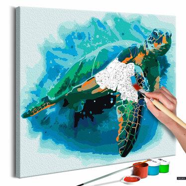 Obraz do samodzielnego malowania Żółw