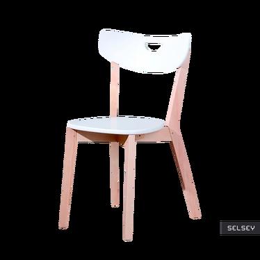 Krzesło Aston białe z wyprofilowanym oparciem