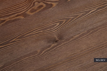 Taboret Paris Wood metaliczny orzech