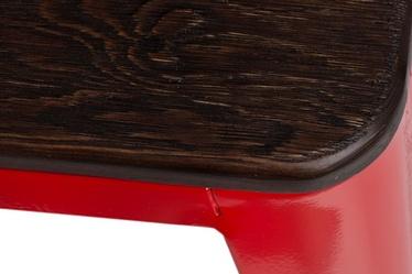 Taboret Paris Wood czerwony sosna szczotkowana