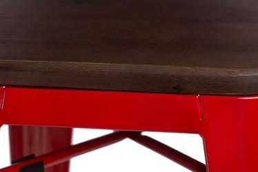 Taboret Paris Wood czerwony orzech