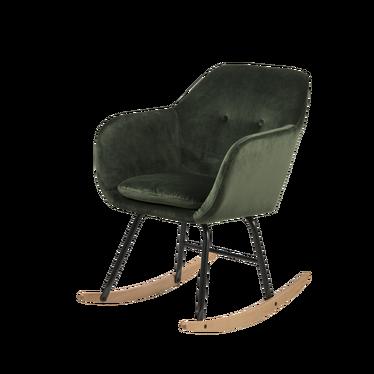 Fotel bujany Emilia Pins zielony welurowy