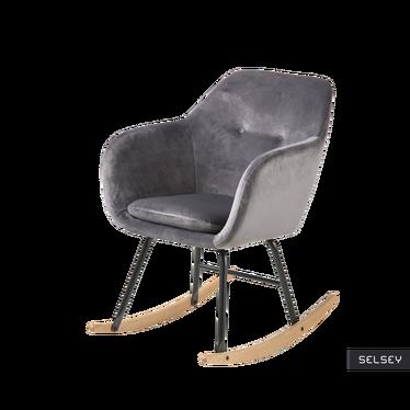 Fotel bujany Enisa grafitowy welurowy