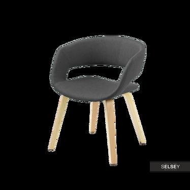 Krzesło Hannah grafitowe na nóżkach z giętego drewna