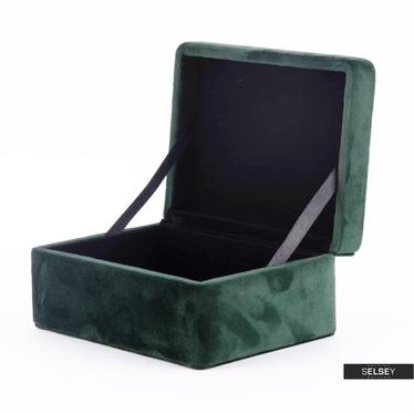 Szkatułka na biżuterię Velvet butelkowy