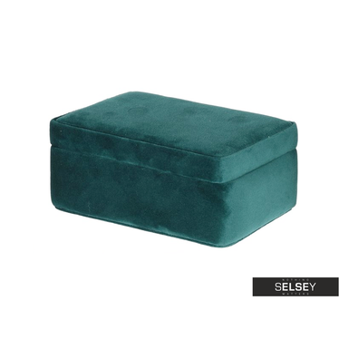 Szkatułka na biżuterię Velvet zielony