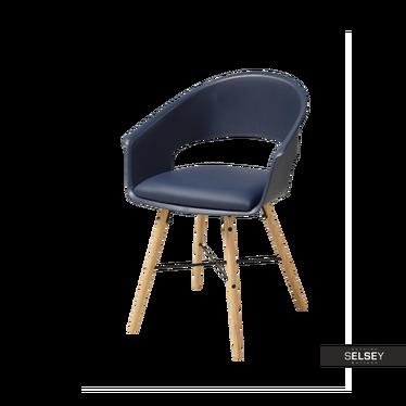 Krzesło Moskal granatowe