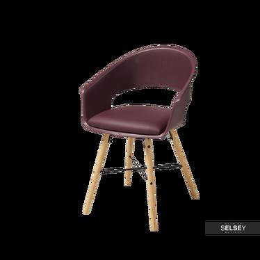 Krzesło Moskal bordowe