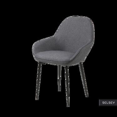 Zestaw dwóch krzeseł Merisor grafitowe