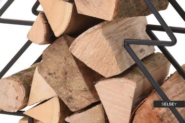 Stojak na drewno kominkowe Choinka