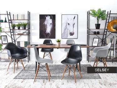 Krzesło MPC wood czarne - orzech