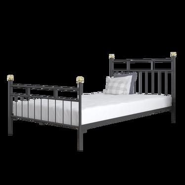 Łóżko metalowe Gerrit