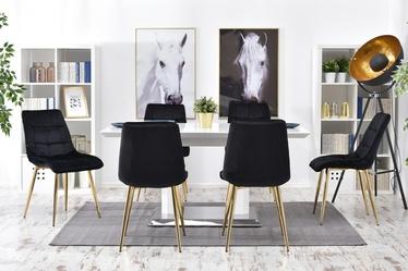 Krzesło Briare czarno - złote tapicerowane