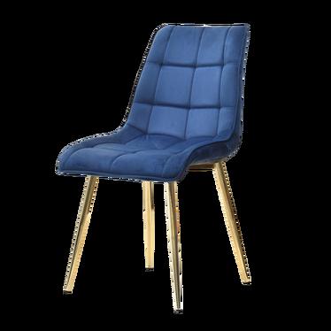 Krzesło Olsen granatowo - złote tapicerowane