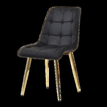Krzesło Olsen czarno - złote tapicerowane