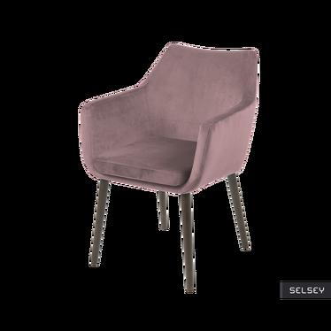 Krzesło Albis różowo - brązowe