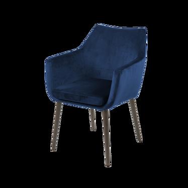 Krzesło Marcelio granatowo - brązowe