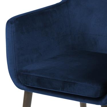 Krzesło Albis granatowo - brązowe