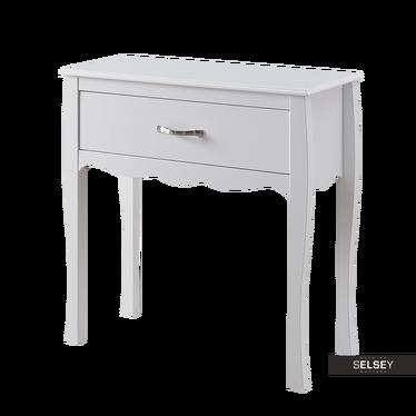 Toaletka Luarca biała z szufladą 76 cm