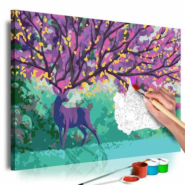 Obraz do samodzielnego malowania Fioletowy jeleń