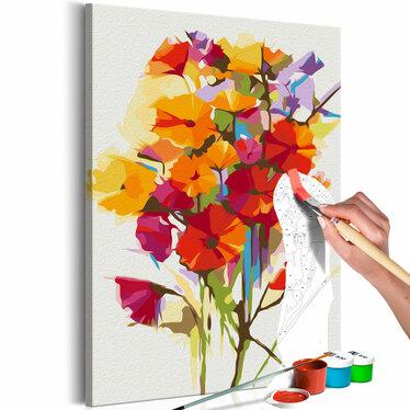 Obraz do samodzielnego malowania Kwiaty lata