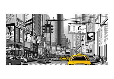 Fototapeta do biura Żółte taksówki - Nowy Jork