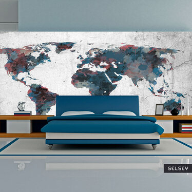 Fototapeta do biura World map on the wall