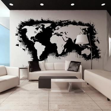Fototapeta do biura Białe kontynenty, czarne oceany...