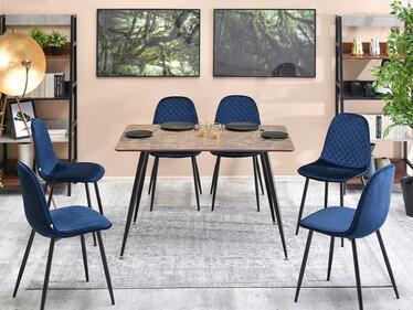 Stół Oneka 120x80 cm brązowy marmur