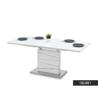 Stół rozkładany Pavone 140(180)x90 cm biały połysk