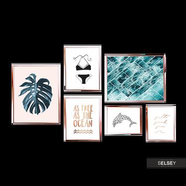 Zestaw 6 Plakatów Peaceful Ocean
