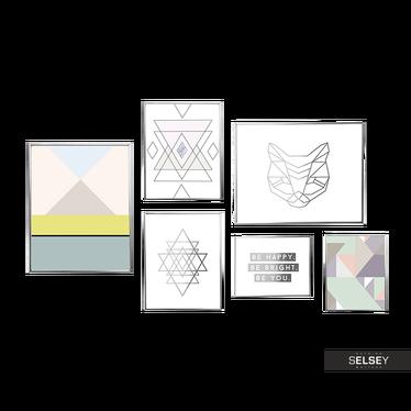 Zestaw 6 Plakatów Boho Geometria