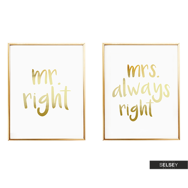 Zestaw 2 Plakatów Mr Right & Mrs Always Right