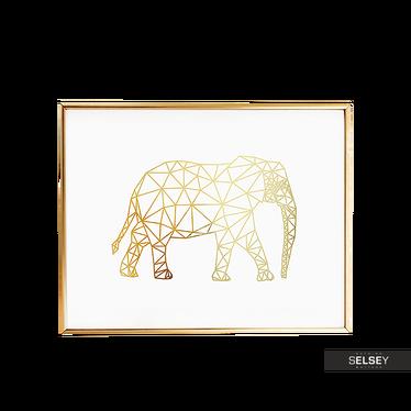 Plakat Geometryczny Słoń